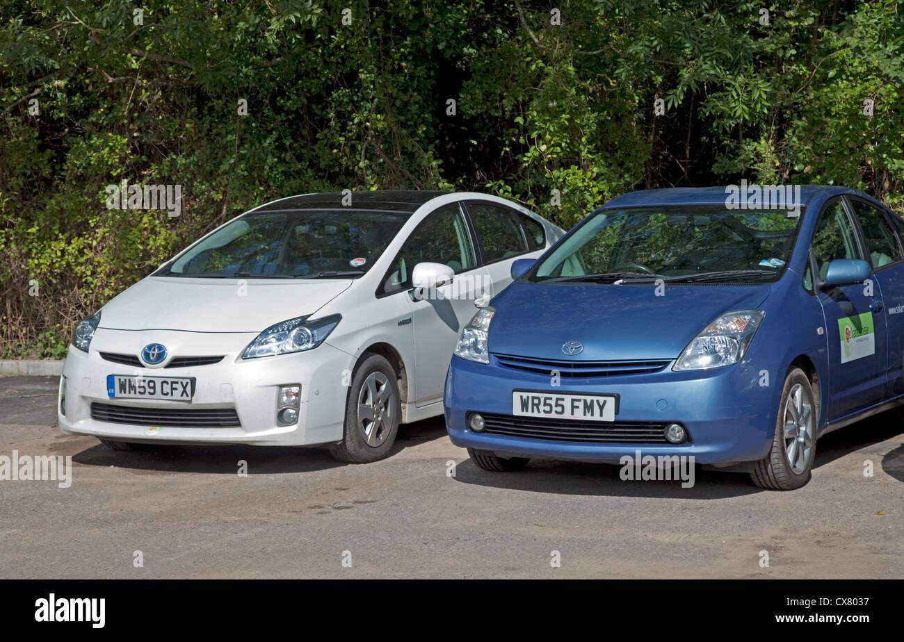 Toyota Prius ibrida elettrico car REGNO UNITO Immagini Stock