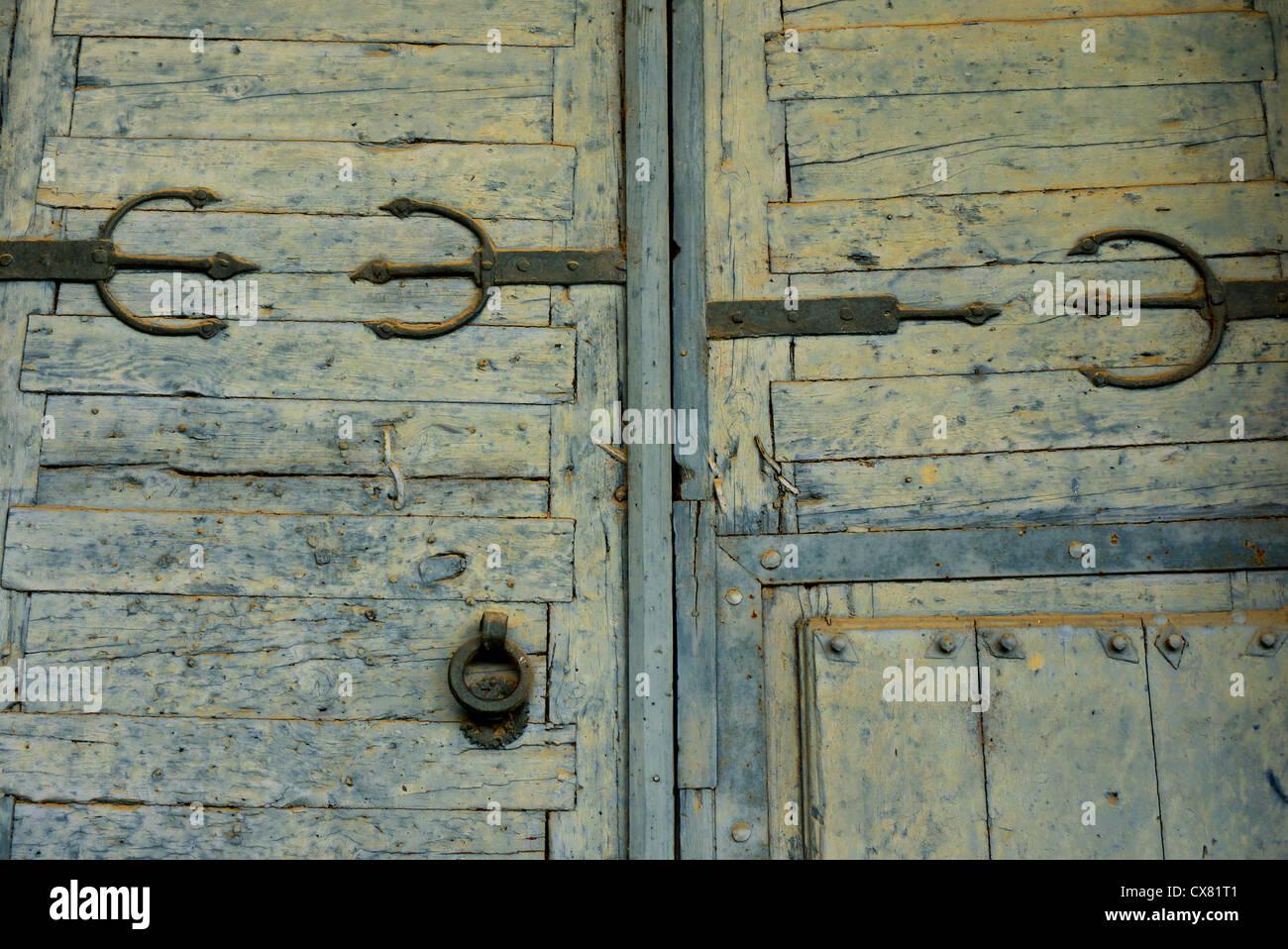 Vecchie porte in legno, Spagna. Immagini Stock