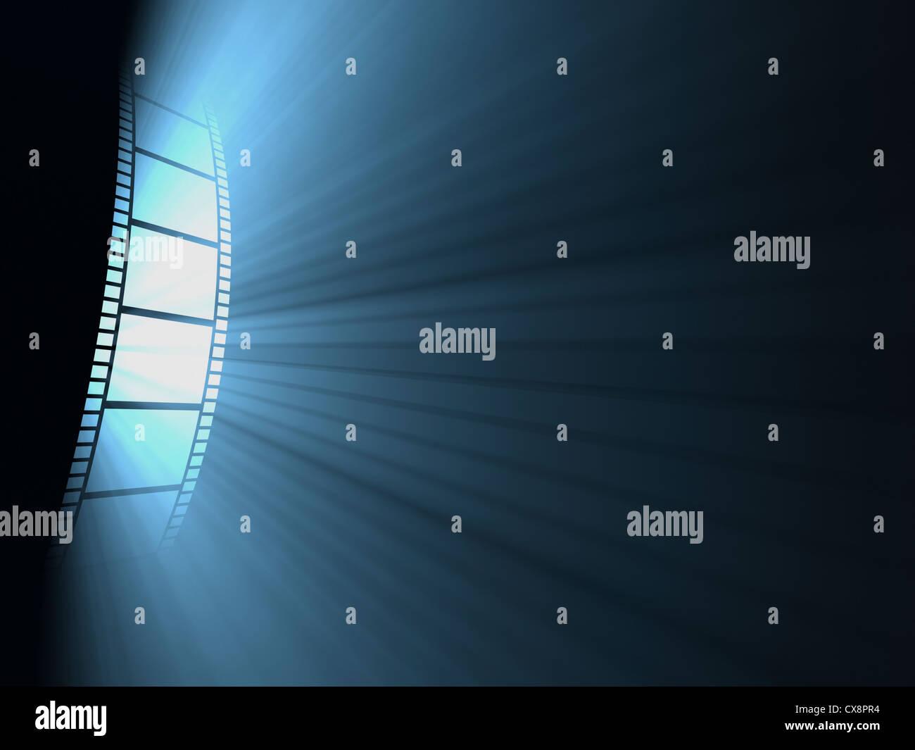 Bobina di pellicola, il concetto di industria cinematografica. Immagini Stock
