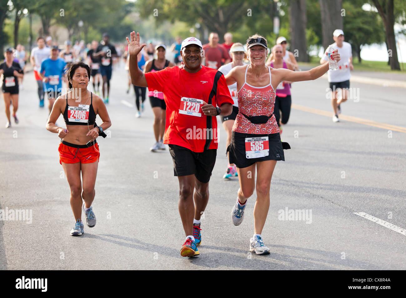 La maratona corridori - USA Immagini Stock