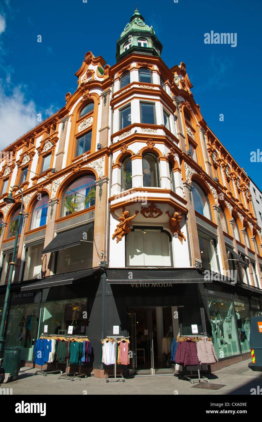 Vero Moda Fashion negozio di abbigliamento lungo la Karl Johans Gate street Sentrum centrale di Oslo Norvegia Europa Immagini Stock