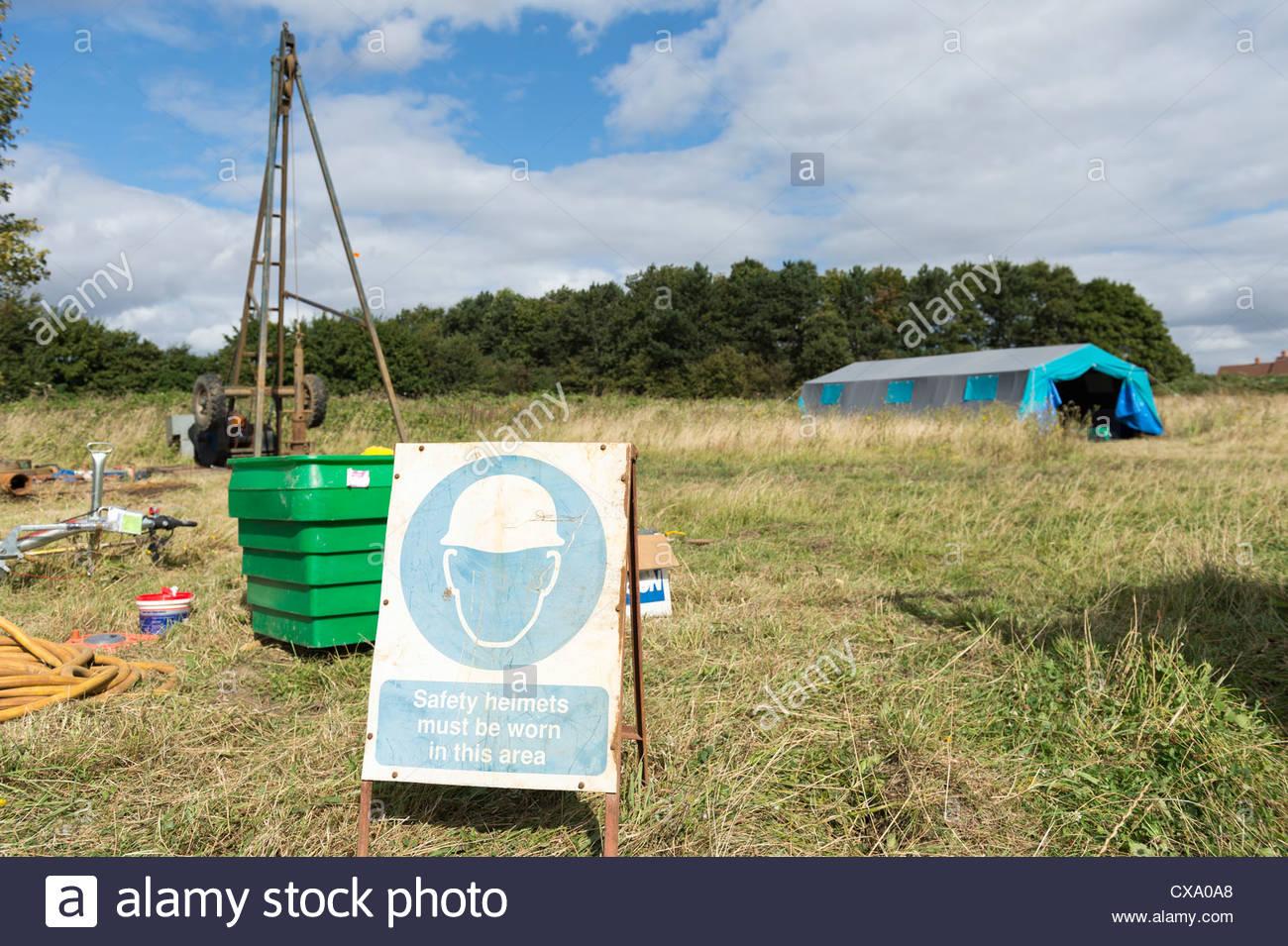 Salute & Sicurezza Preavviso e centro benessere presso il redr uk e HWB mani sul Weekend: Idrogeologia per ingegneri Immagini Stock