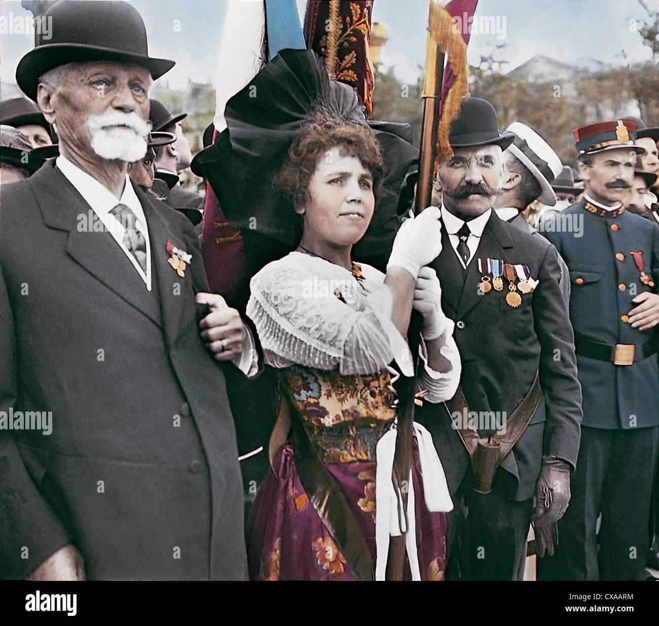 Il giorno dell'Armistizio, Parigi, Francia, 1918 Immagini Stock