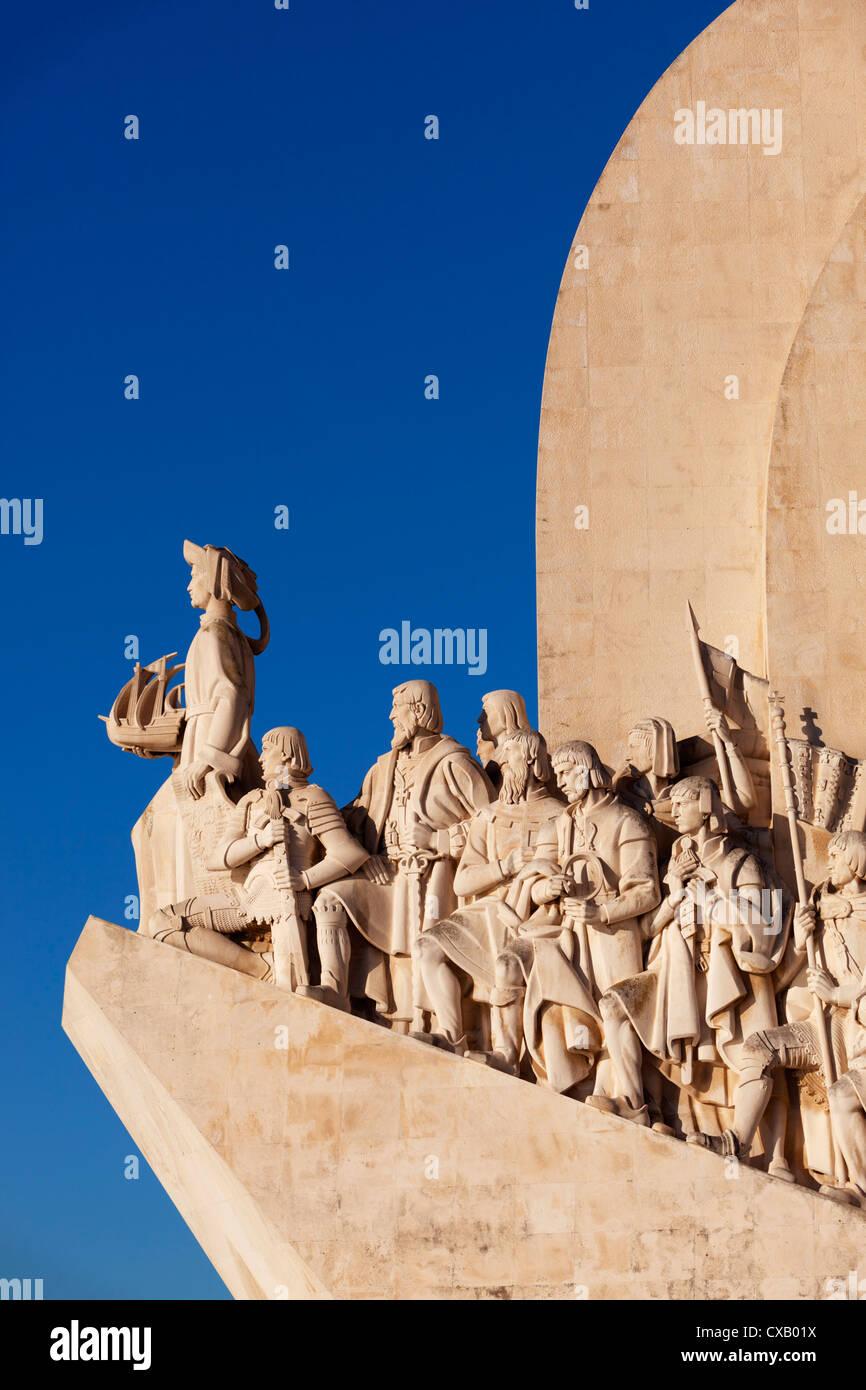 Il Monumento delle Scoperte, Belem, Lisbona, Portogallo, Europa Immagini Stock