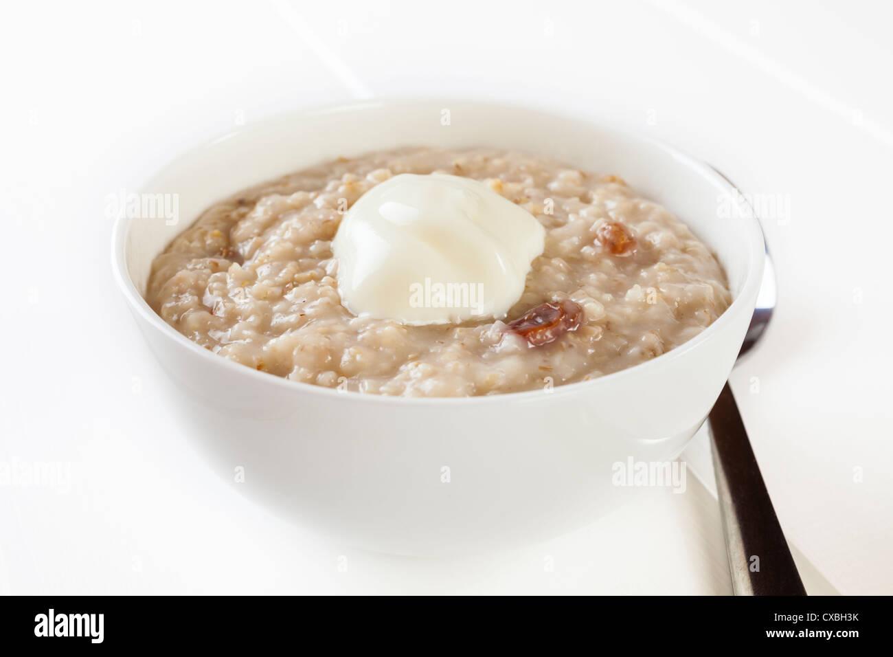 A basso contenuto calorico ciotola di porridge Immagini Stock