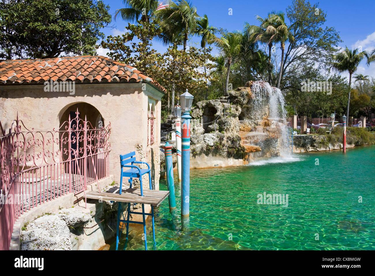 Venetian Pool, Coral Gables, Miami, Florida, Stati Uniti d'America, America del Nord Immagini Stock