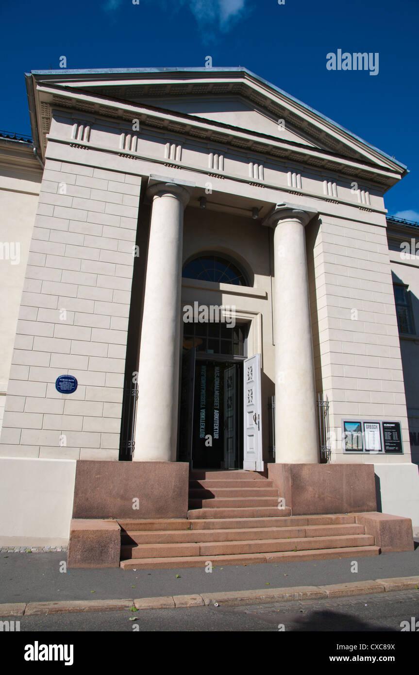 Museo Nazionale di Architettura, Arte e design, città vecchia, Oslo, Norvegia Immagini Stock