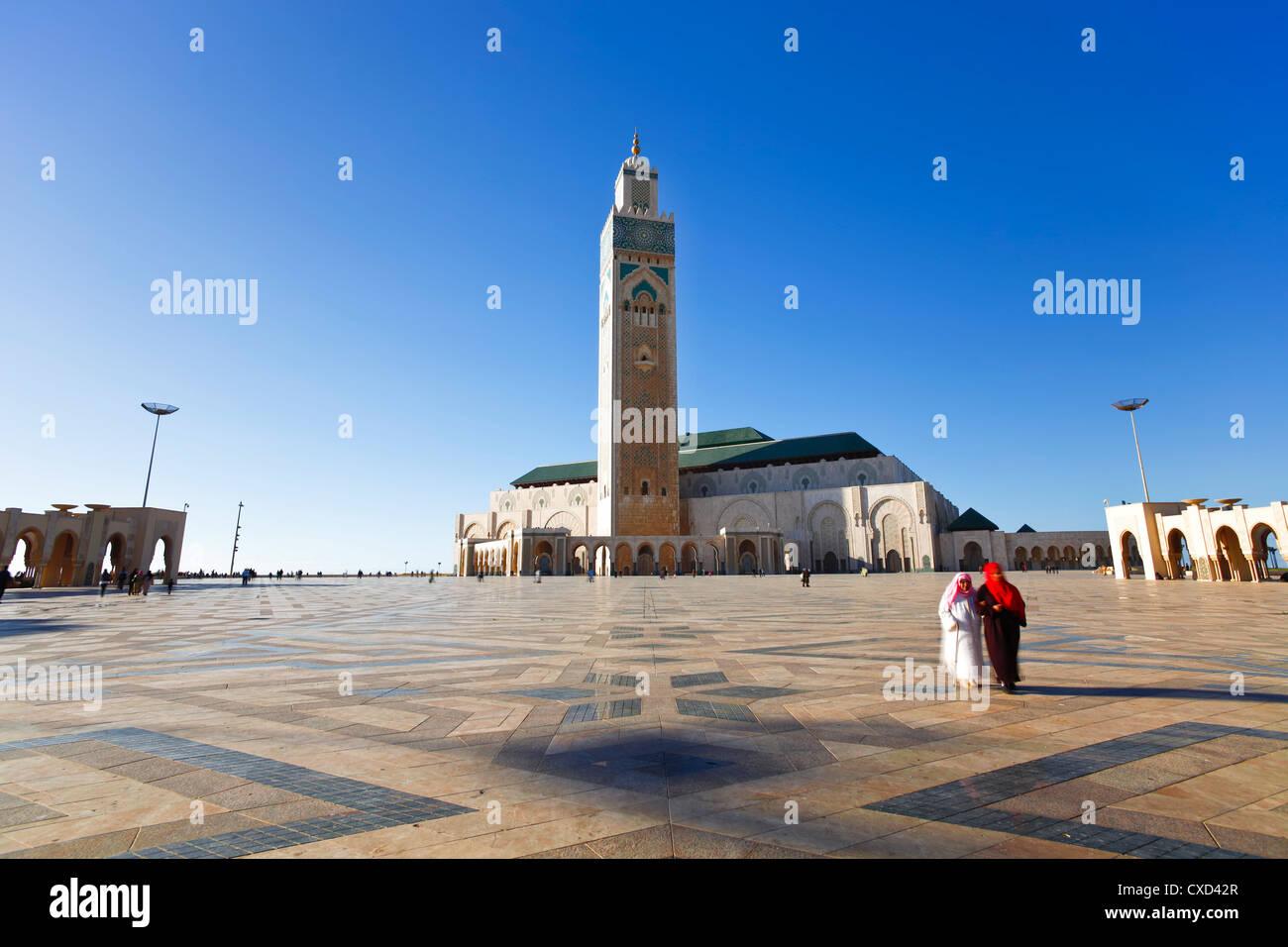 Moschea Hassan II, il terzo più grande moschea del mondo, Casablanca, Marocco, Africa Settentrionale, Africa Immagini Stock