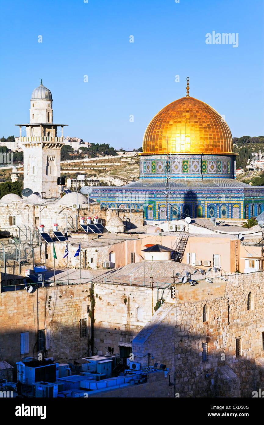 Cupola della roccia, il Monte del Tempio, Città Vecchia, sito Patrimonio Mondiale dell'UNESCO, Gerusalemme, Immagini Stock