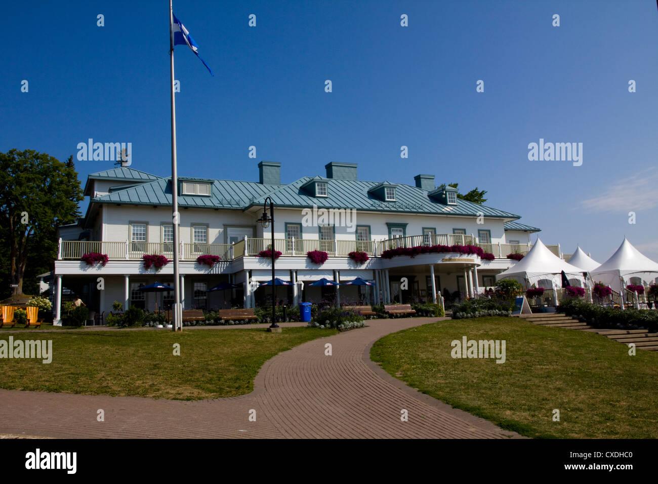 Centro visitatori Manoir Montmorency a Montmorency Falls Park, vicino a Quebec City, in Canada Foto Stock