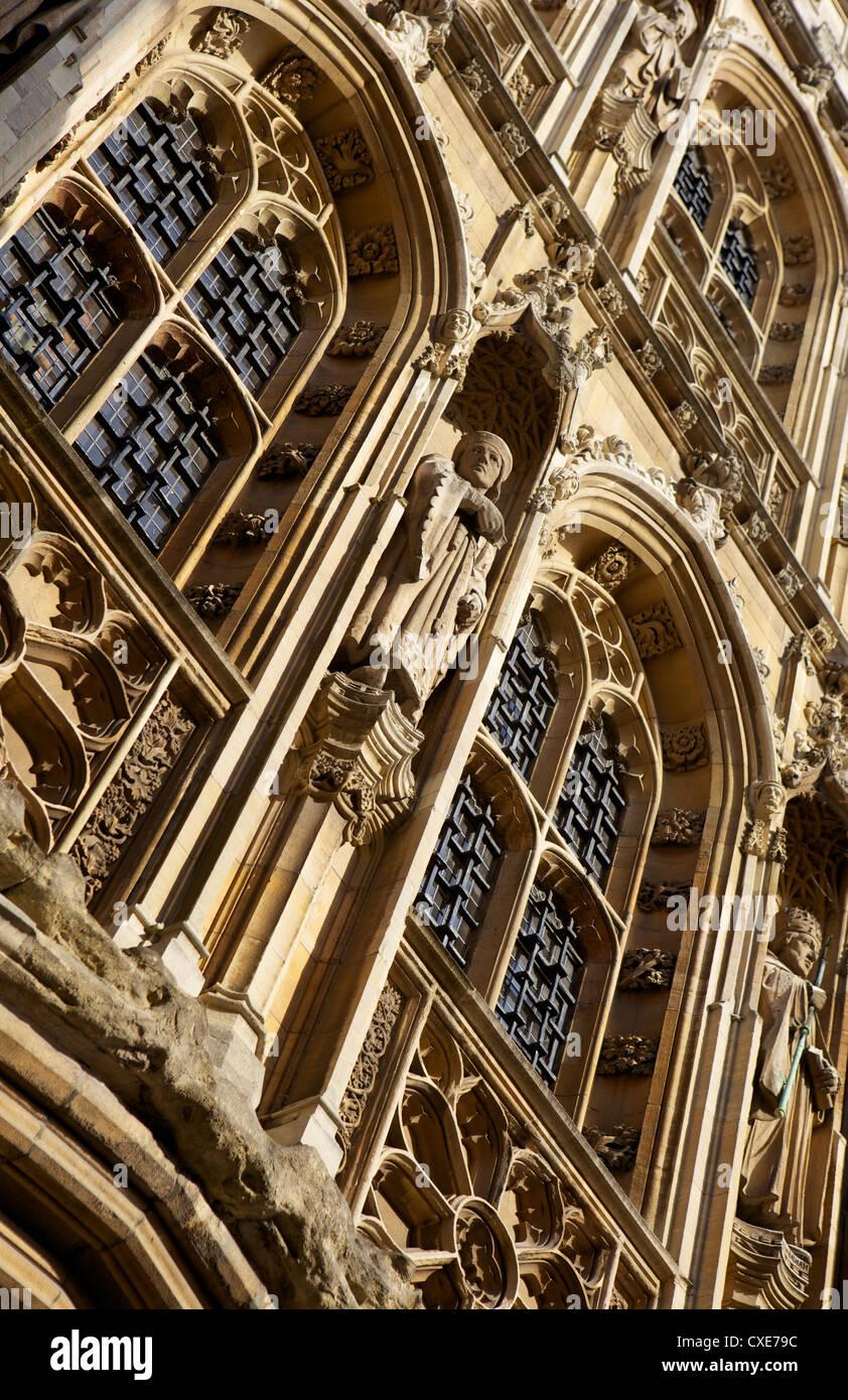 Lavori decorativi in pietra, Cambridge, Inghilterra Immagini Stock