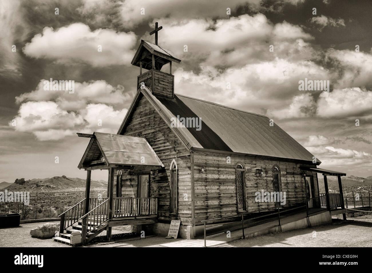 Nuovo Testamento la Chiesa cristiana. Goldfield ghost town, Arizona. Immagini Stock