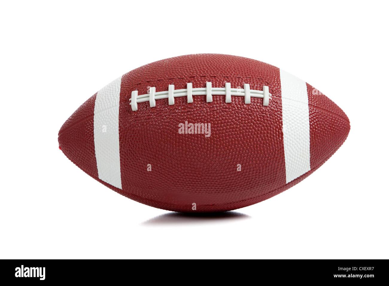 Un american football su sfondo bianco Immagini Stock
