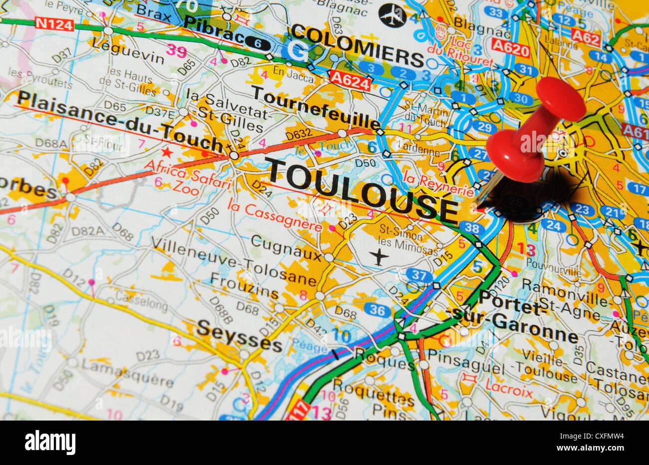 Cartina Francia Tolosa.Tolosa Francia Sulla Mappa Foto Stock Alamy
