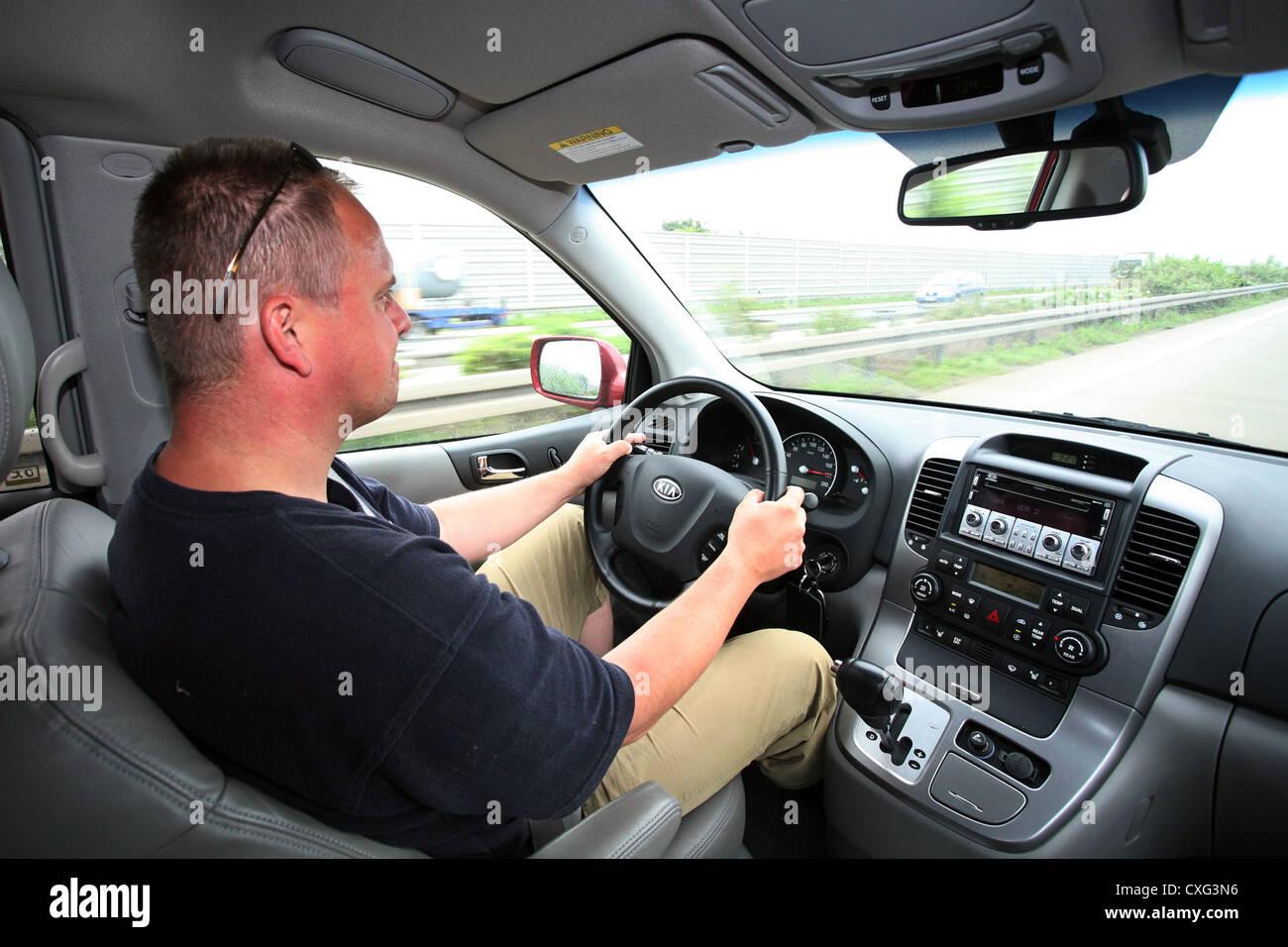 Berlino, tesa agli automobilisti in autostrada Immagini Stock