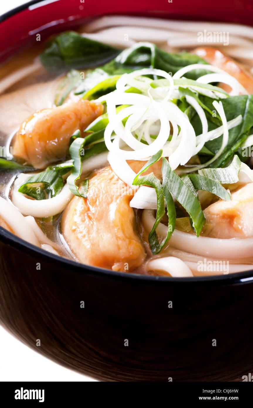 Udon Noodles Foto Stock