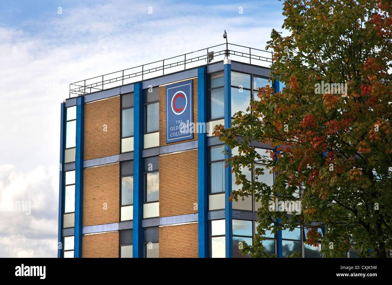 College di Oldham (ulteriore istruzione), Oldham, Greater Manchester, Inghilterra, Regno Unito Foto Stock