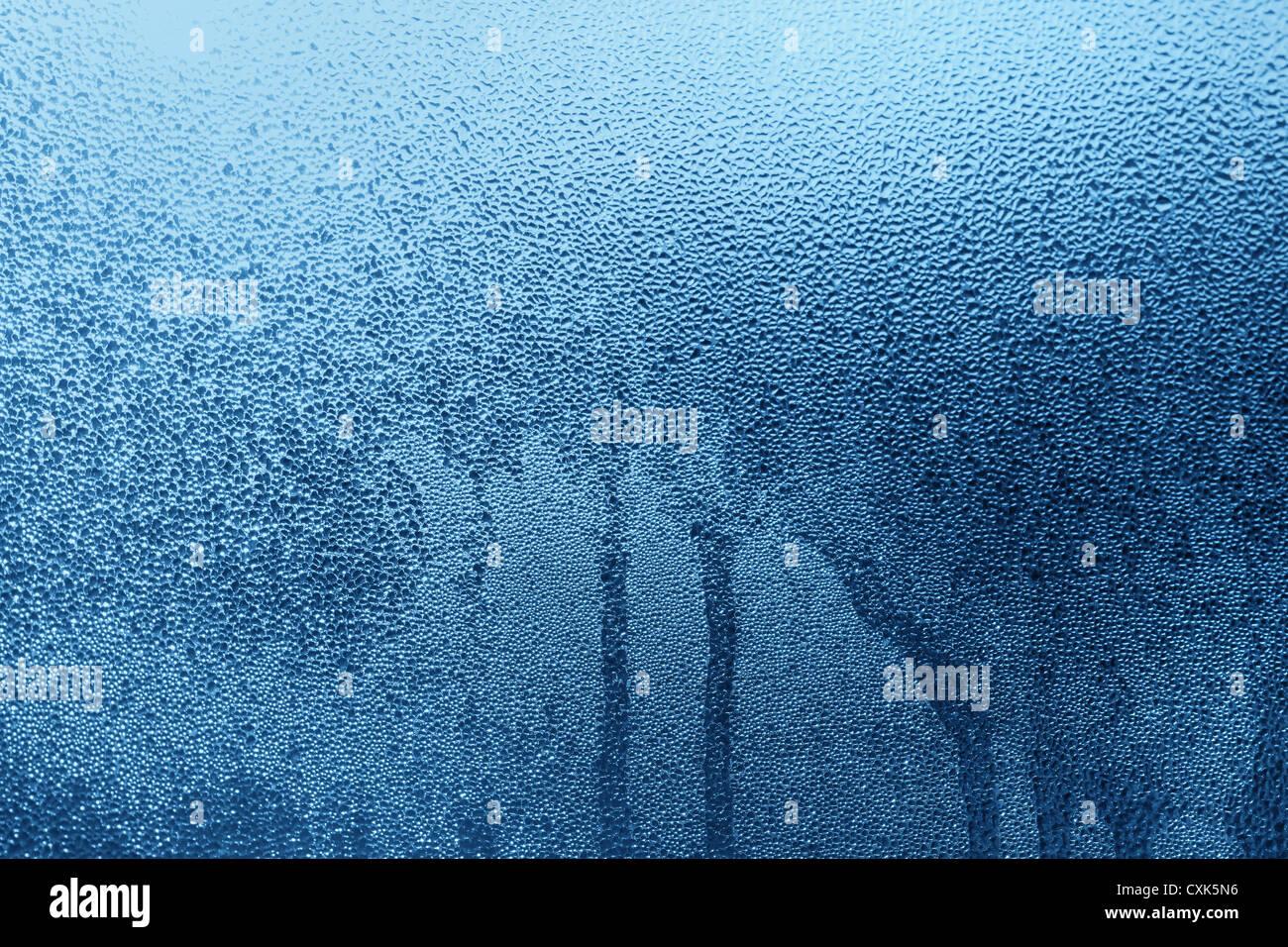 Gocce di acqua su vetro Immagini Stock