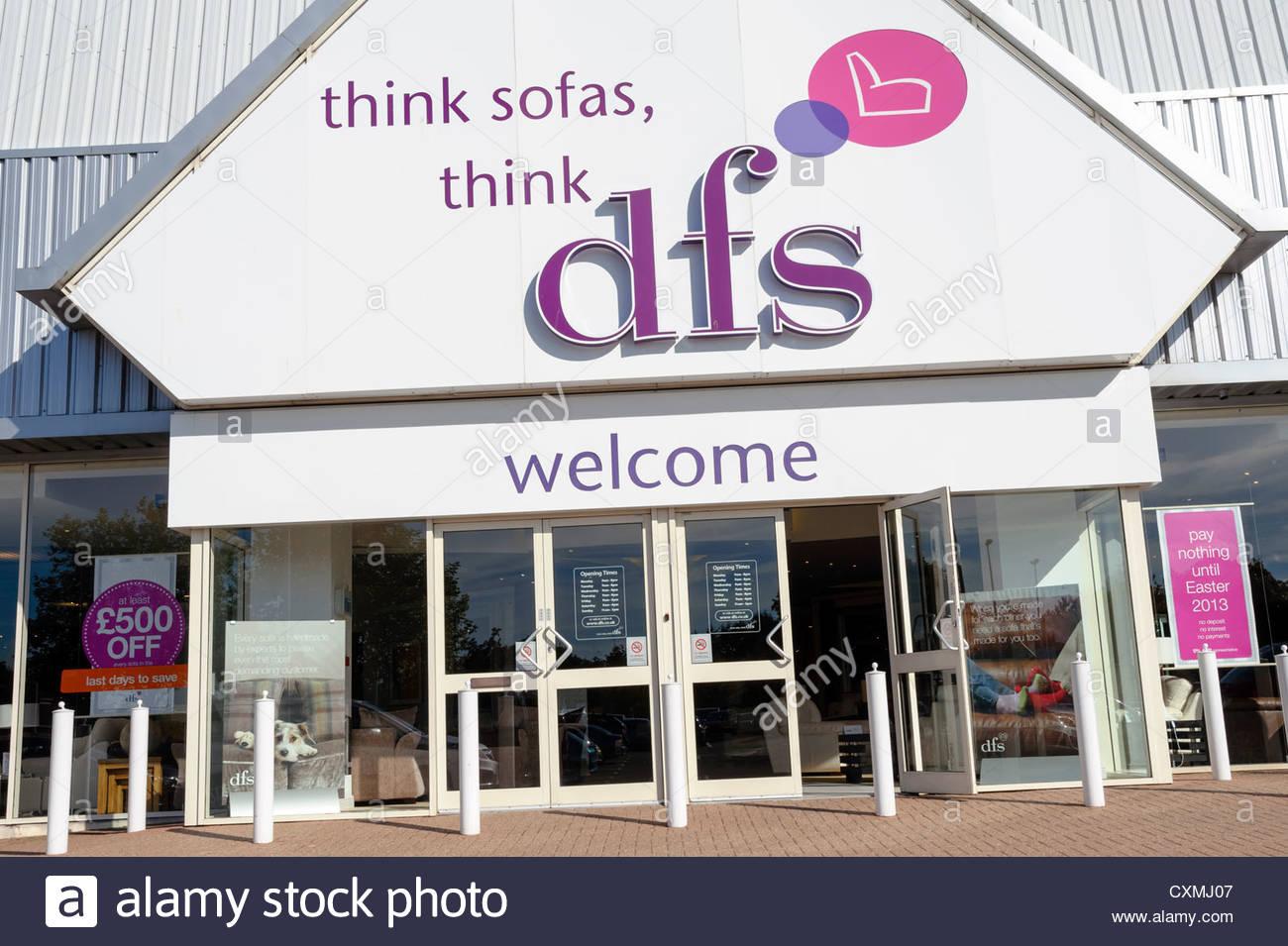 DFS furniture store in Cheltenham, Regno Unito. Immagini Stock