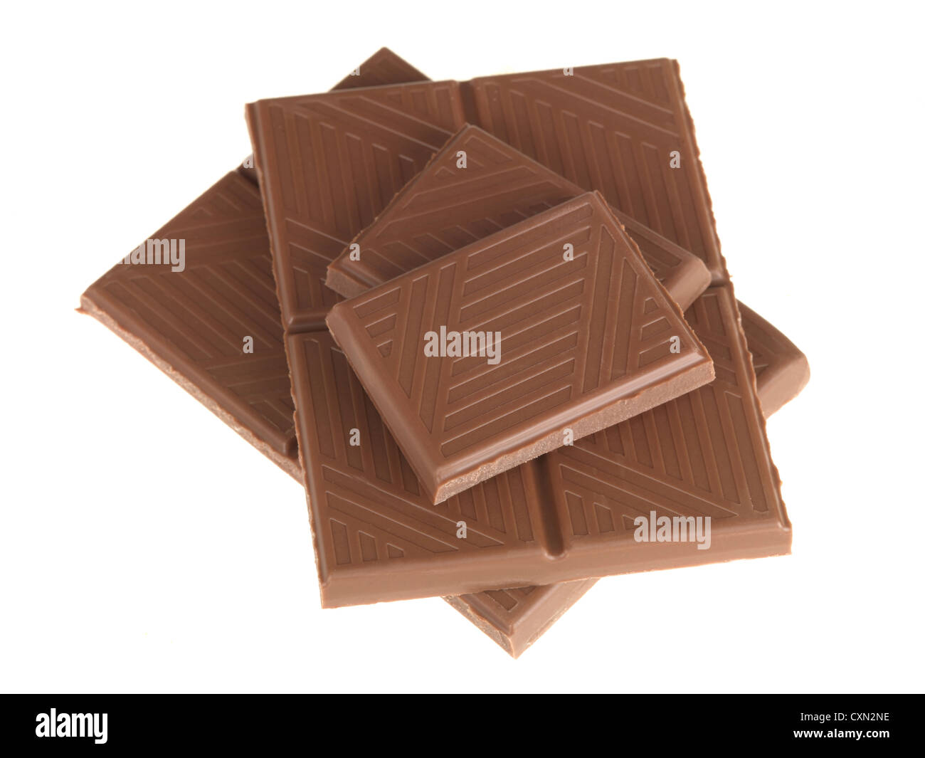 Barra di cioccolato al latte Immagini Stock