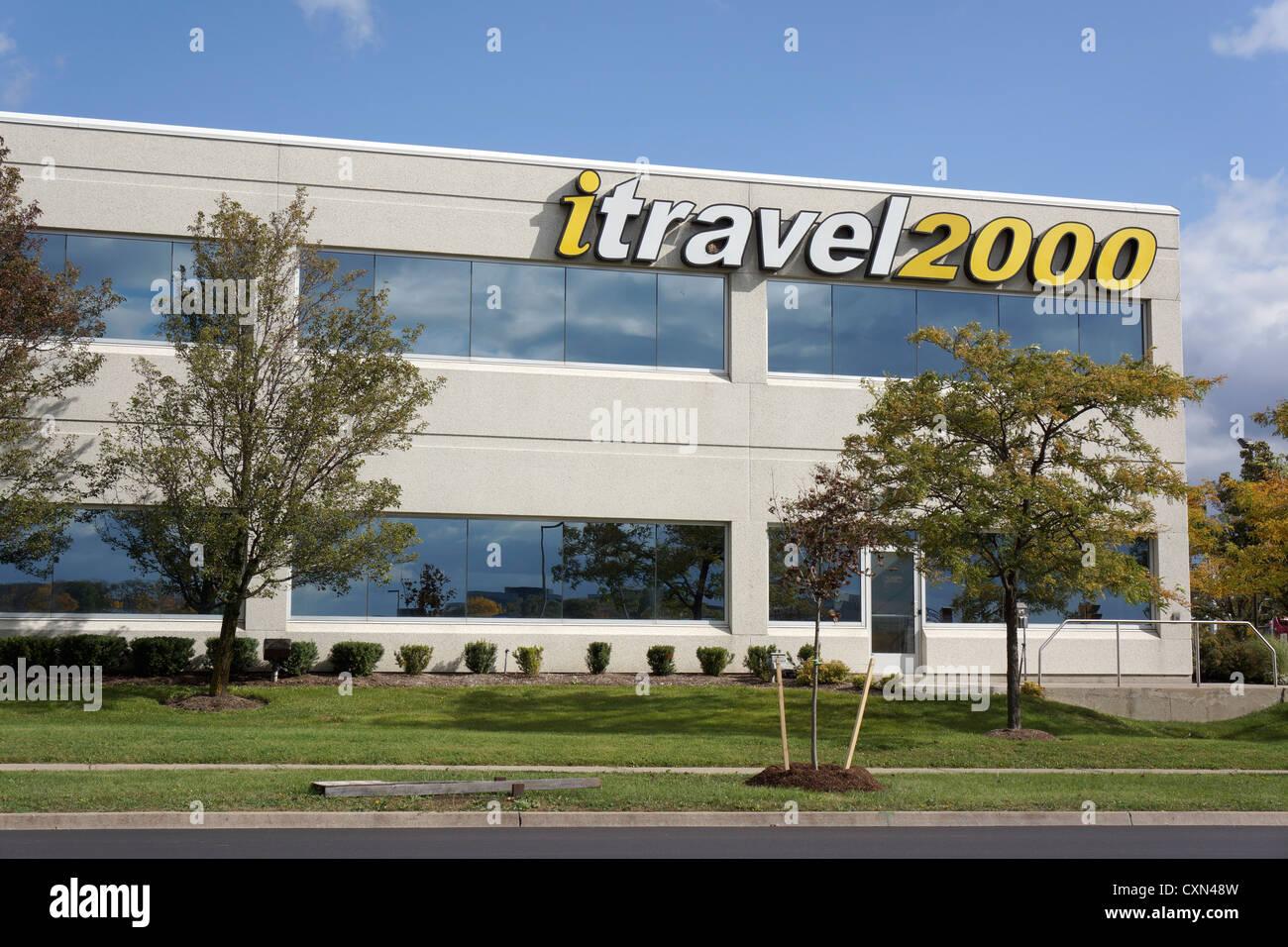 ITravel2000, agenzia di viaggio Ubicazione ufficio, Mississauga, Ontario, Canada Immagini Stock