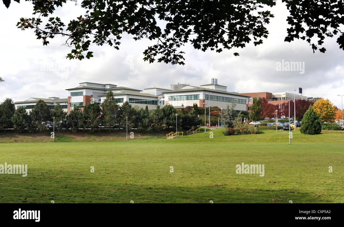 Una vista esterna di STAFFORD OSPEDALE GENERALE SUL WESTON ROAD STAFFORD ,STAFFORDSHIRE England Regno Unito Immagini Stock
