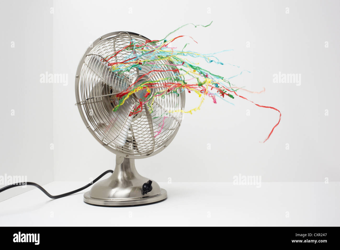 Ventola elettrica con streamers Immagini Stock