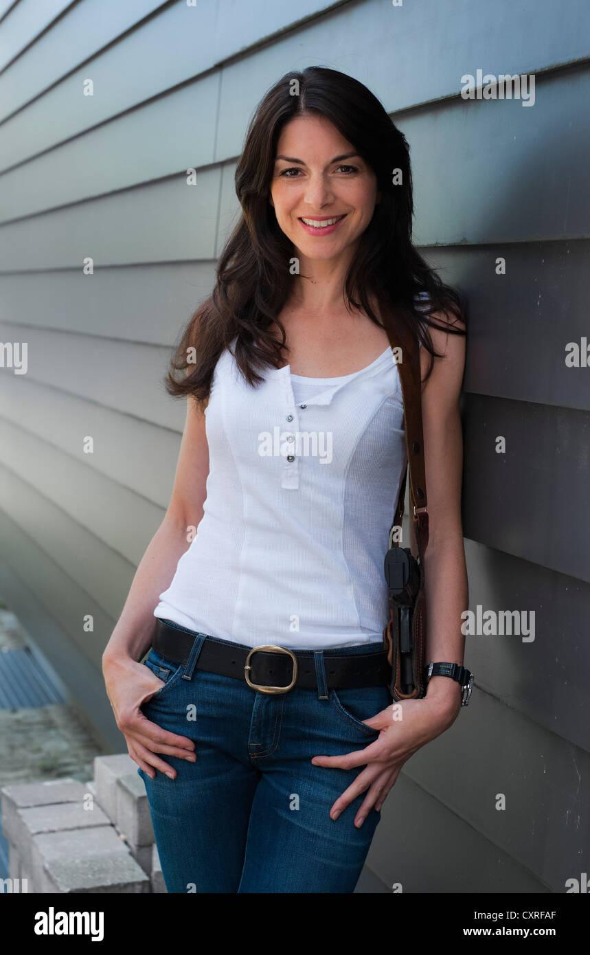 L'attrice Bianca Hein a photocall in Ismaning vicino a Monaco di Baviera, Germania, Europa Immagini Stock