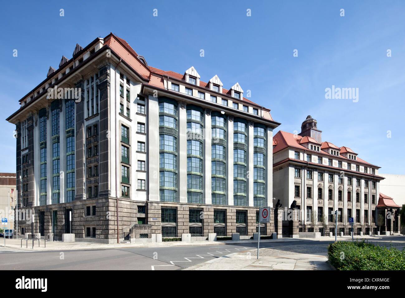 Principali sassone Archivio di Stato, Neustadt di Dresda, Sassonia, Germania, Europa PublicGround Immagini Stock