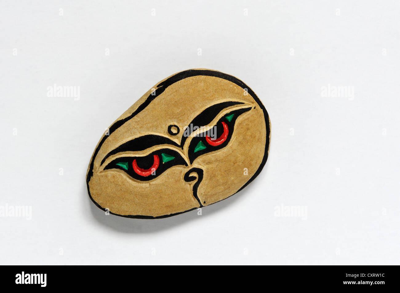 Ma ni rdo il tibetano per mani la pietra, un souvenir dal Tibet Immagini Stock