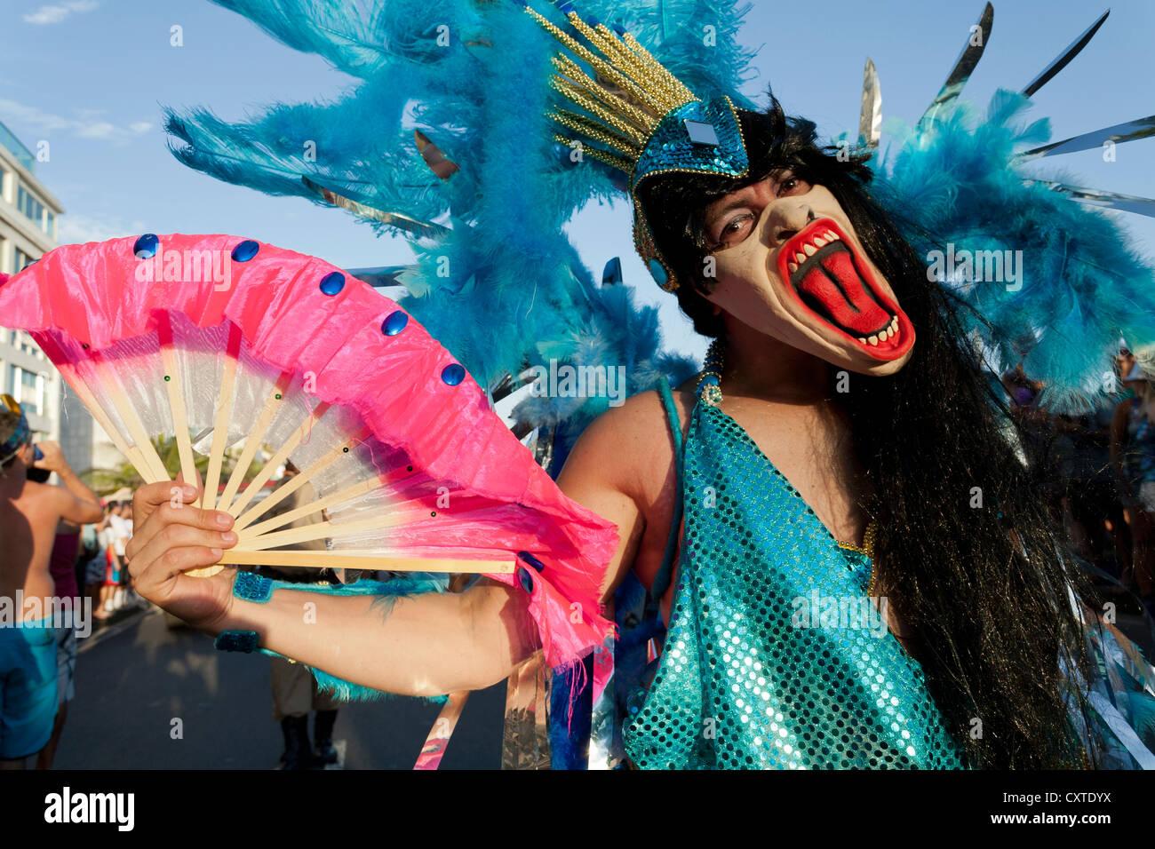 Banda de Ipanema Street Il Carnevale di Rio de Janeiro in Brasile Immagini Stock