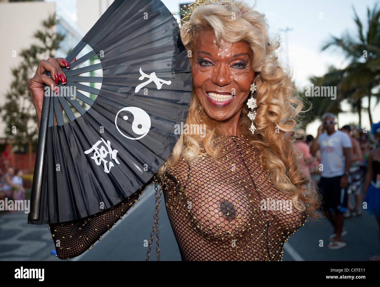 Banda de Ipanema Il Carnevale di Rio de Janeiro in Brasile Immagini Stock