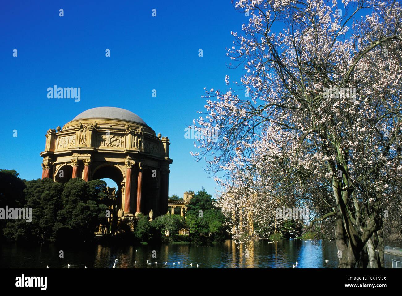 Palazzo delle Belle Arti di San Francisco, California. Immagini Stock