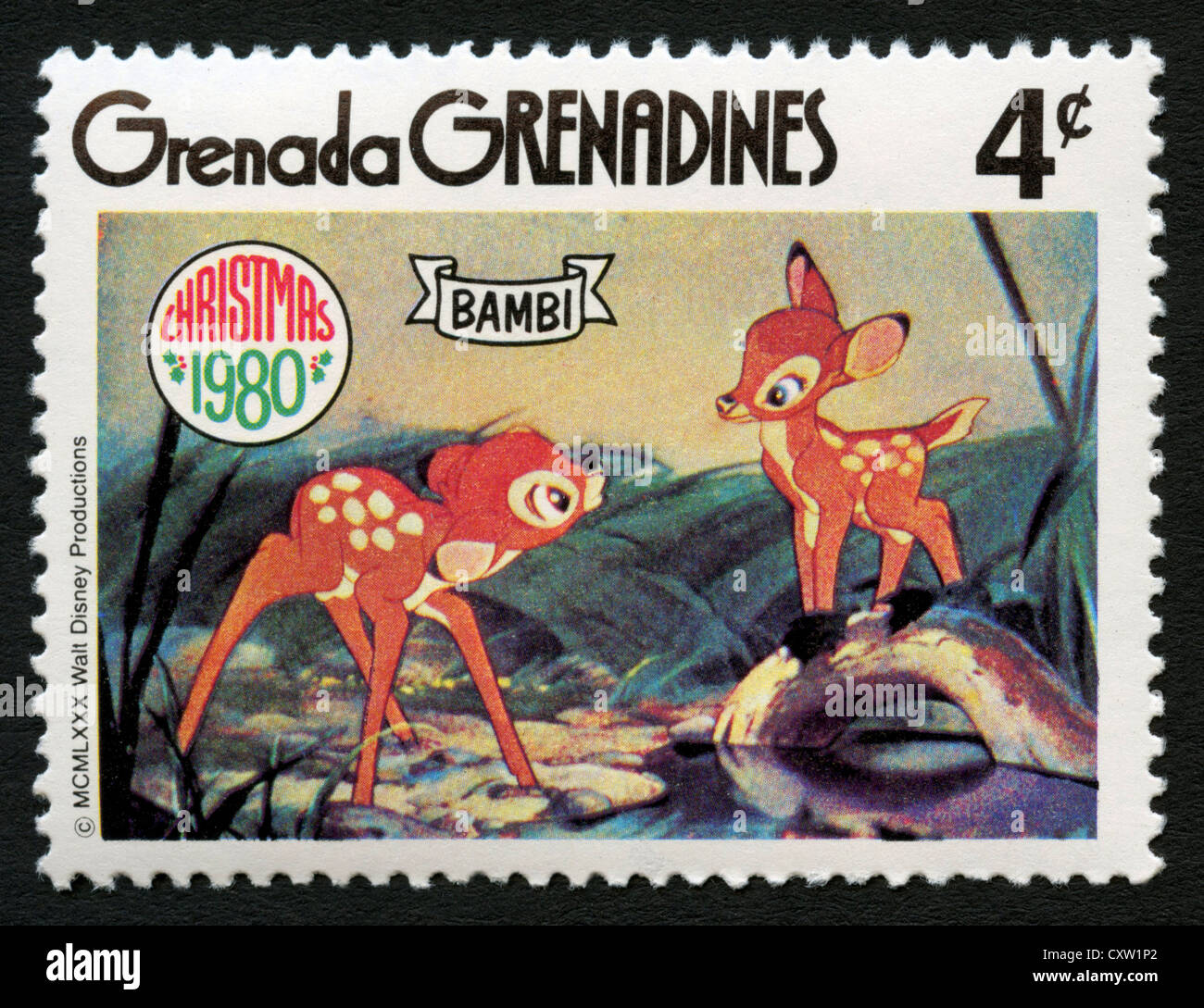 Grenada francobollo cartoni animati disney bambi foto & immagine