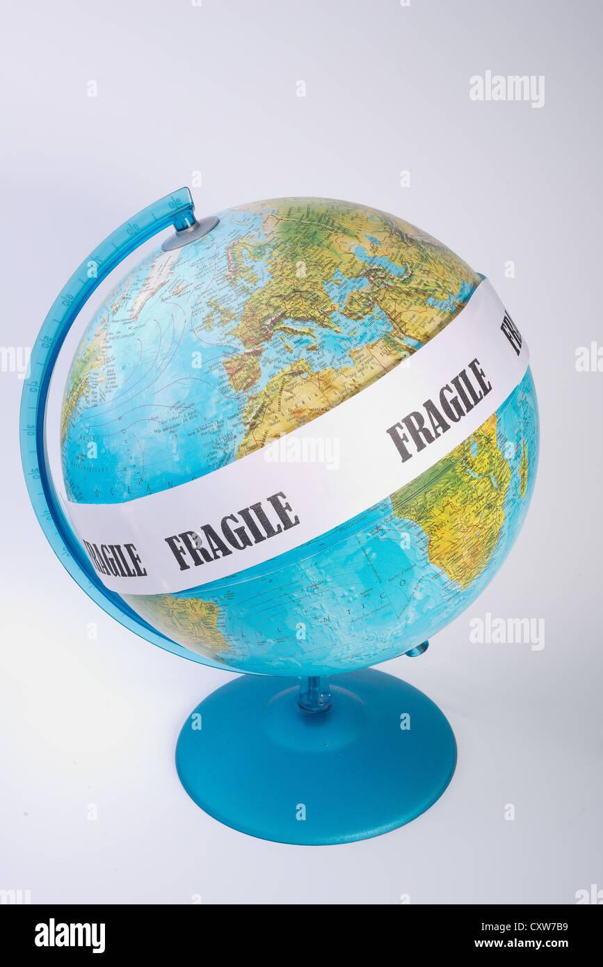 La fragilità della terra Immagini Stock
