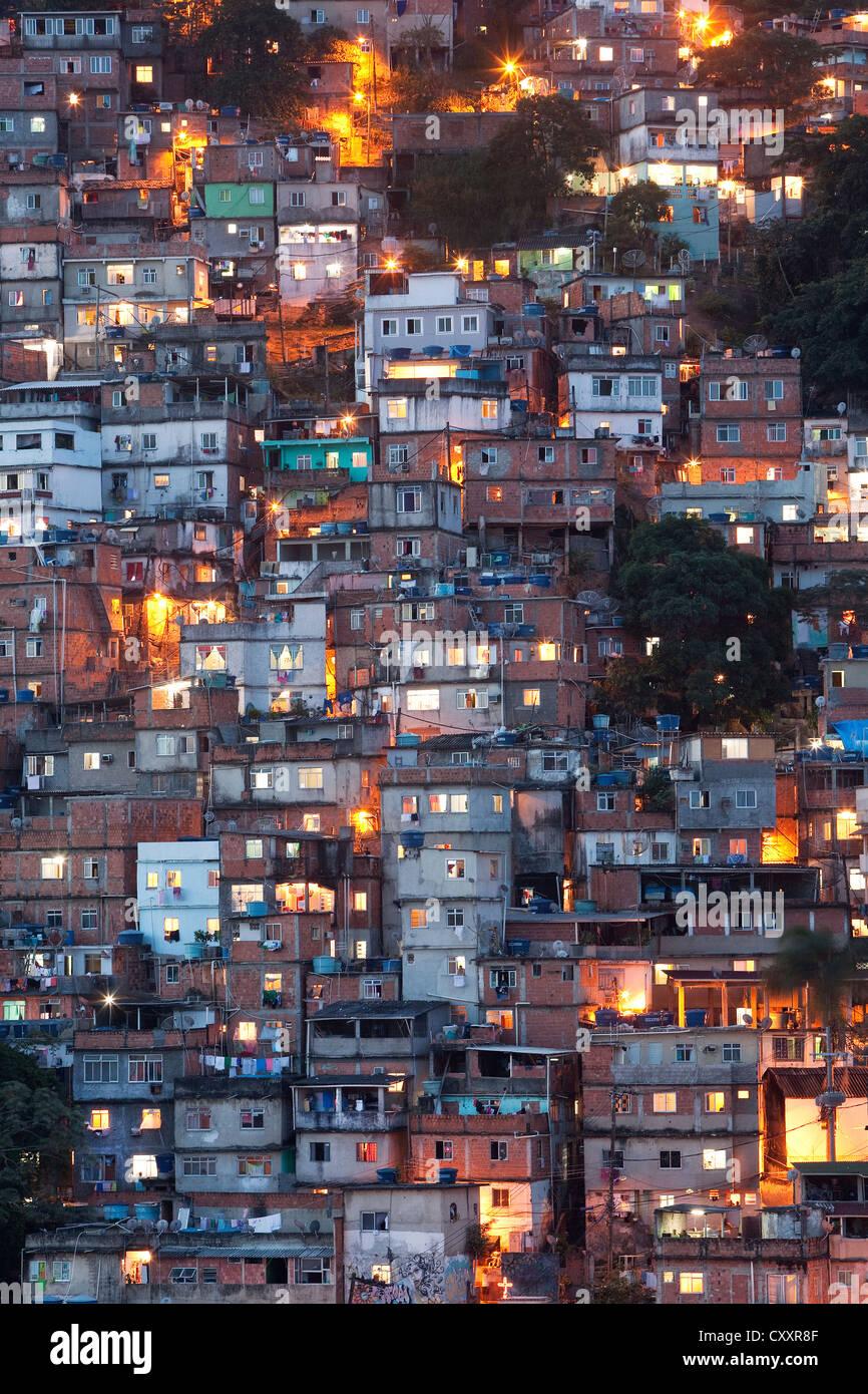 Favela di Rio de Janeiro Immagini Stock
