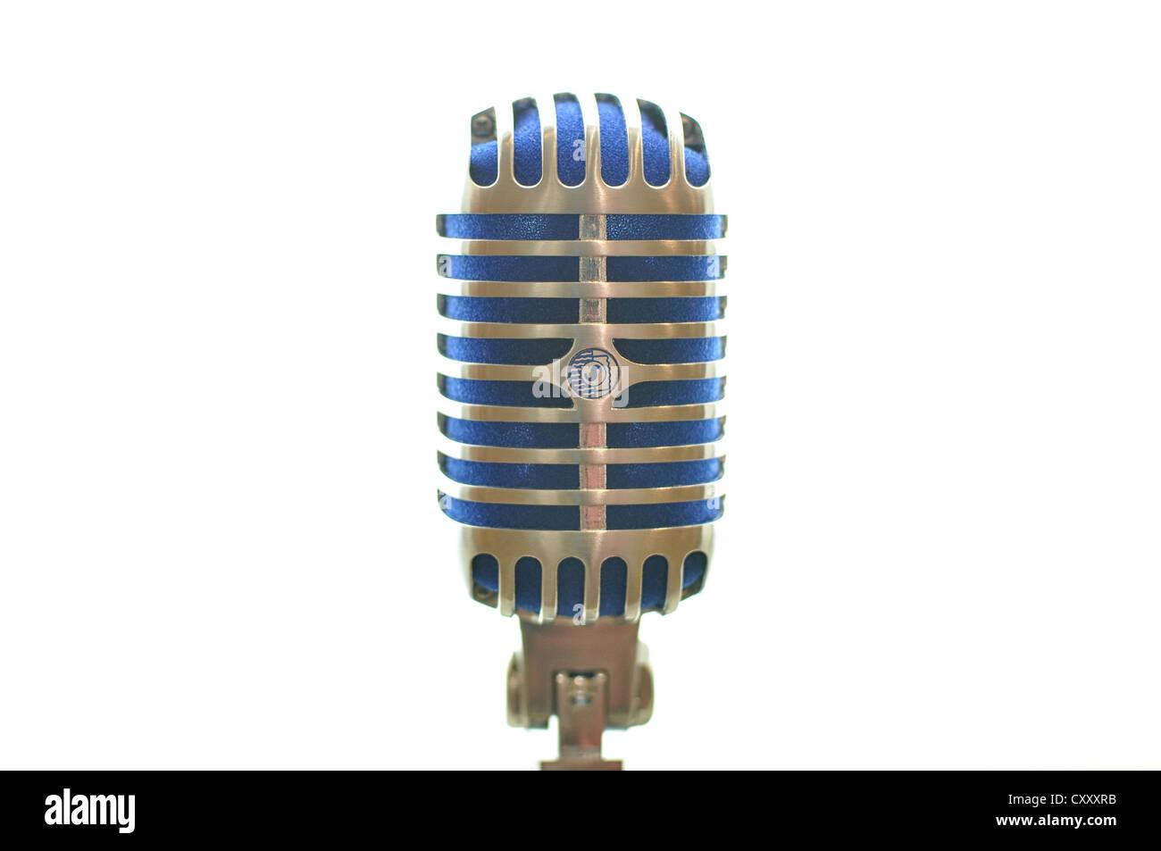 Un vecchio stile di microfono. Immagini Stock