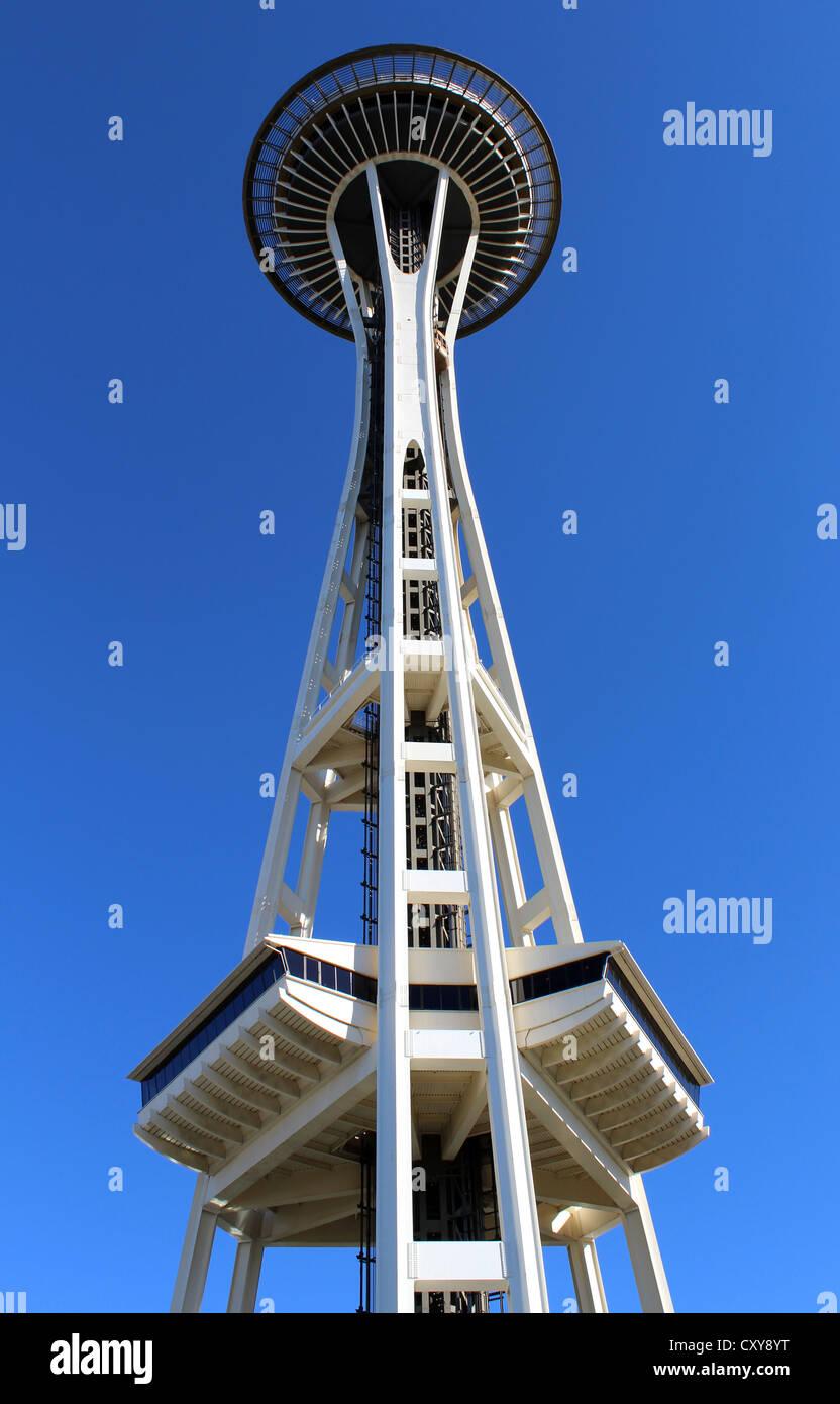 Seattle Space Needle Tower, Seattle, Washington, Stati Uniti d'America Immagini Stock