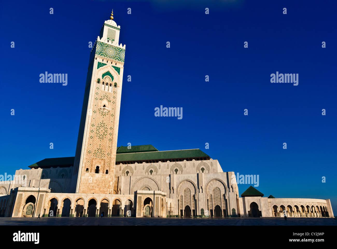 Il re Hassan II Mosque, Casablanca, Marocco Immagini Stock