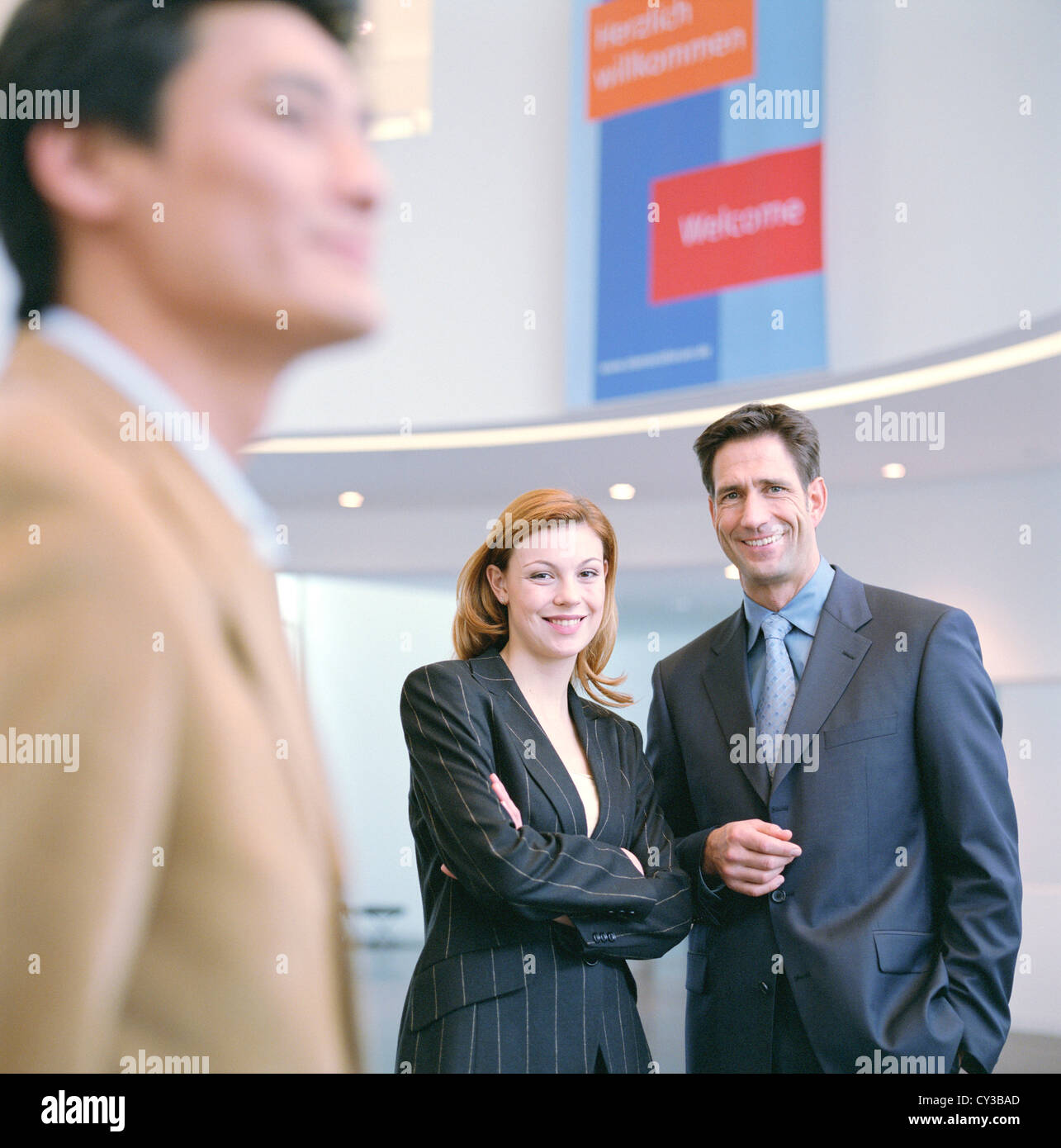 Manager business uomo donna gruppo licenza gratuita ad eccezione di annunci e cartelloni per esterni Immagini Stock