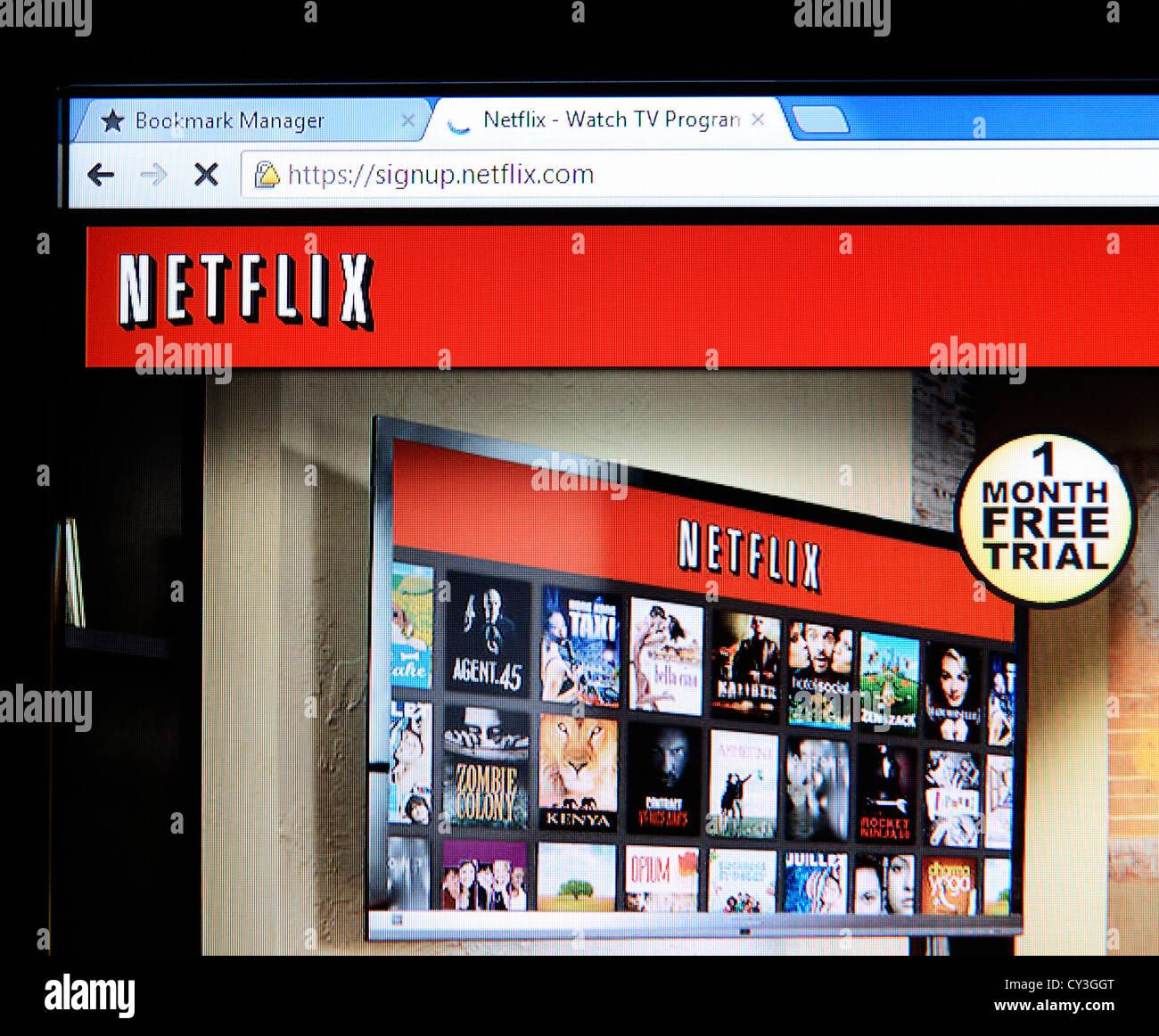 Netflix sito web Immagini Stock