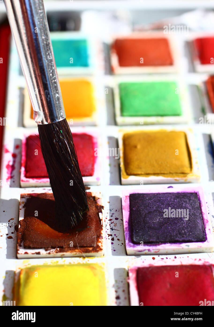 Artisti Pallette di vernice Immagini Stock