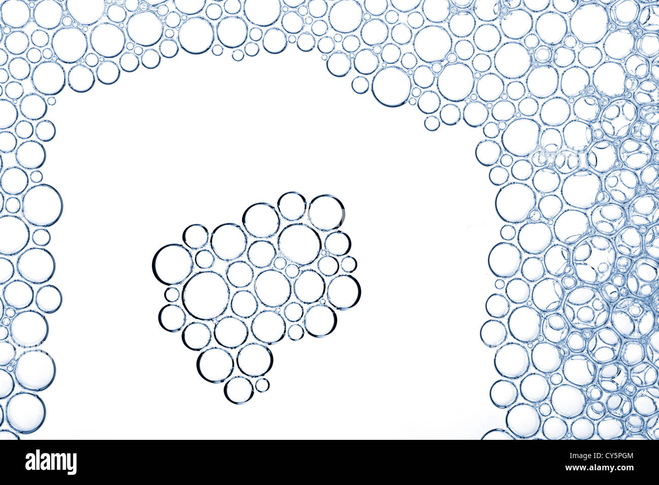 Bolle di schiuma si tessitura macro Immagini Stock