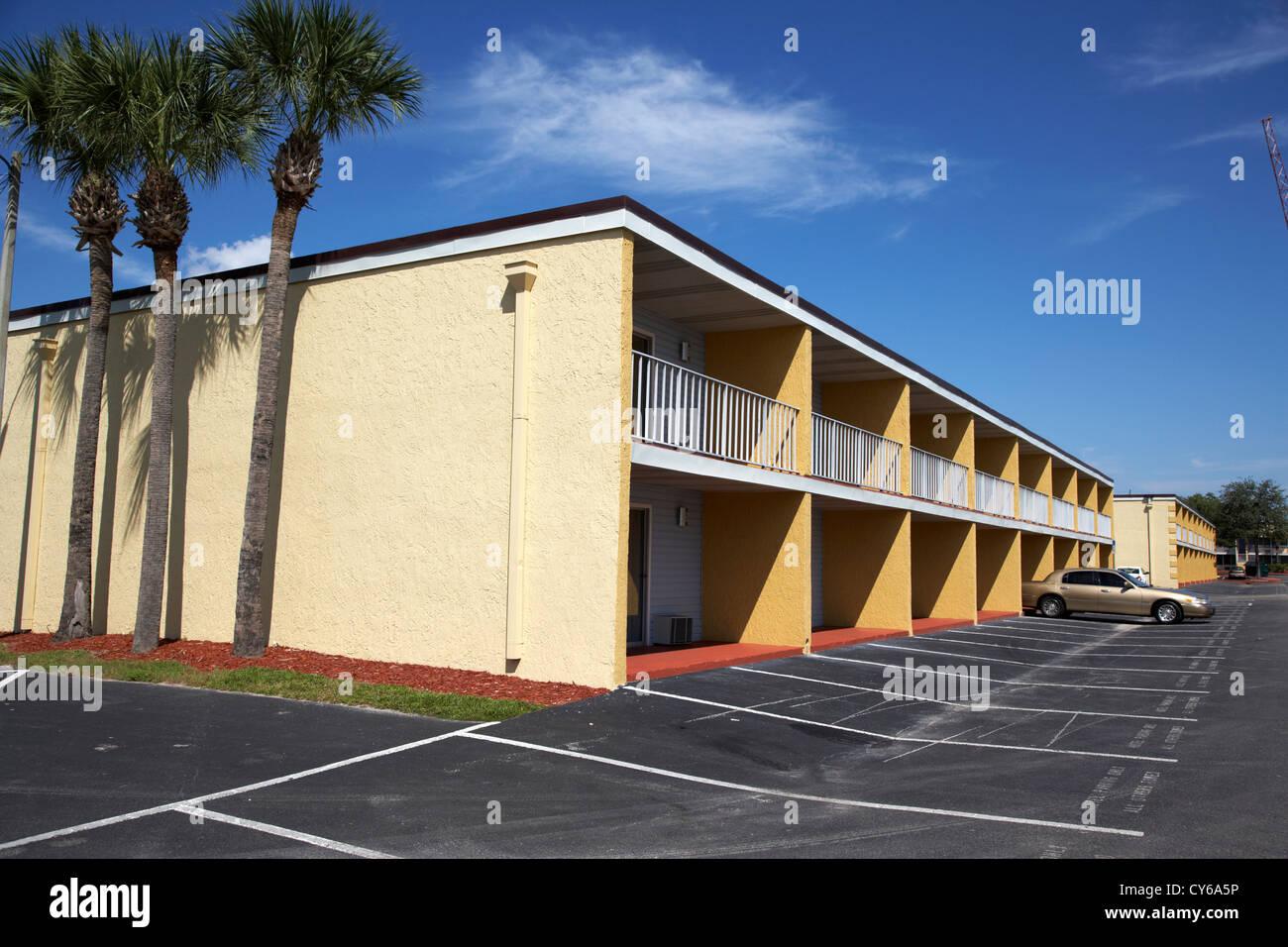 Per la maggior parte vuota a buon mercato budget motel in Kissimmee florida usa Immagini Stock