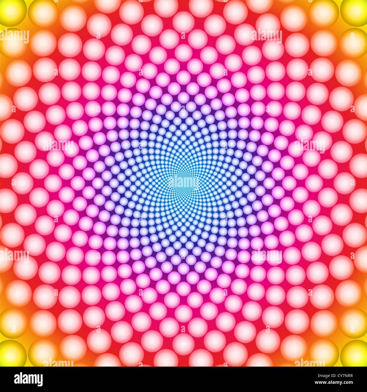 Anello illusione ottica sullo sfondo Immagini Stock