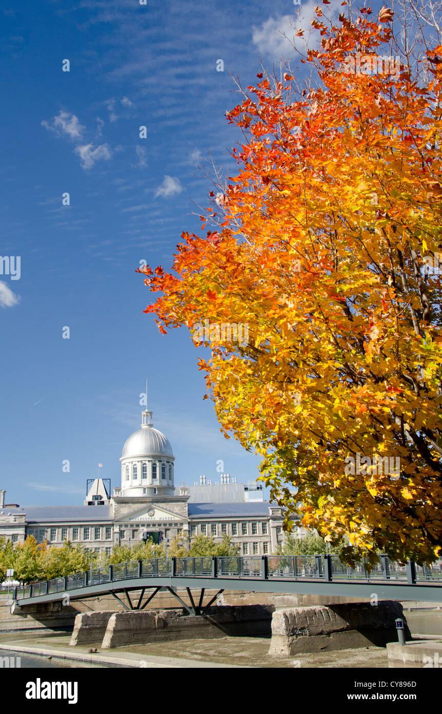 """Canada Quebec, Montreal. """"Storico Porto Vecchio' area di Montreal. Argento cupola neorinascimentale del Immagini Stock"""