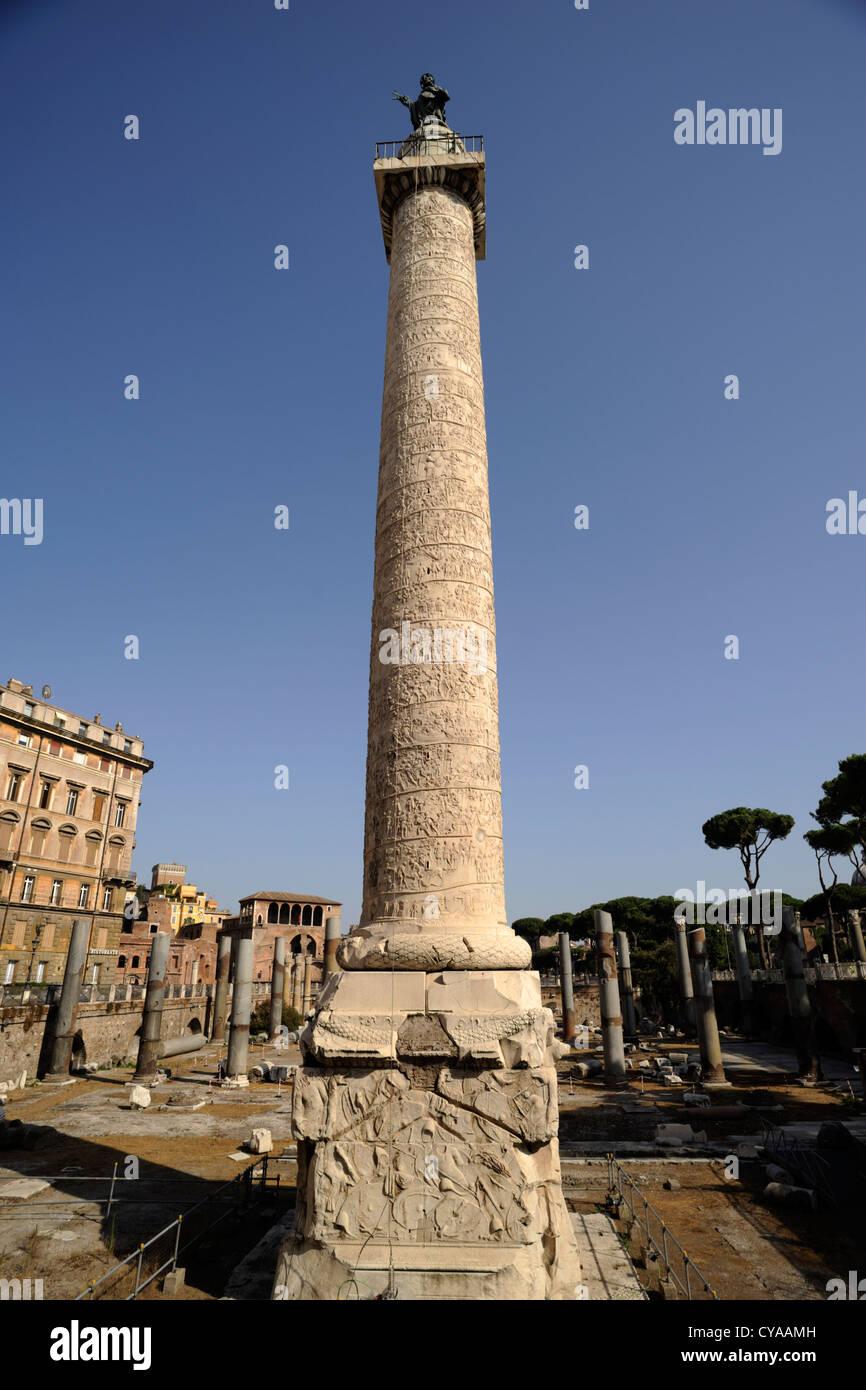 Italia, Roma, Colonna di Traiano Immagini Stock