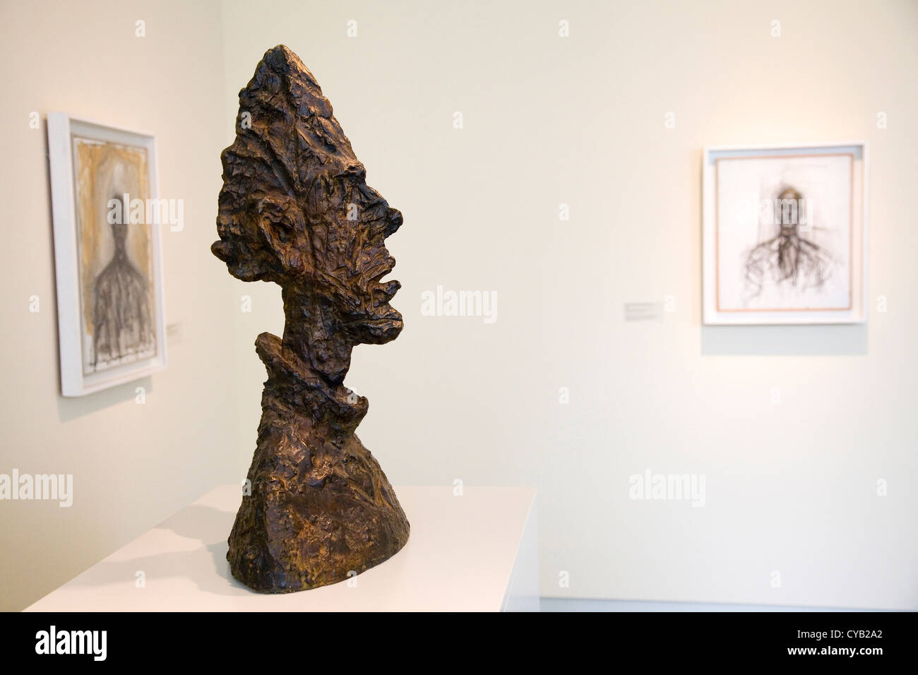 L'Europa, la Svizzera, Zurigo, Kunsthaus, museo d'arte, di scultura di alberto giacometti Immagini Stock