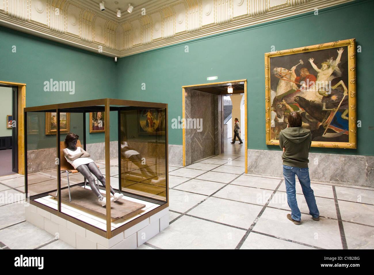 L'Europa, la Svizzera, Zurigo, Kunsthaus, museo d'arte, installazione, opera d'arte di andro wekua, Immagini Stock