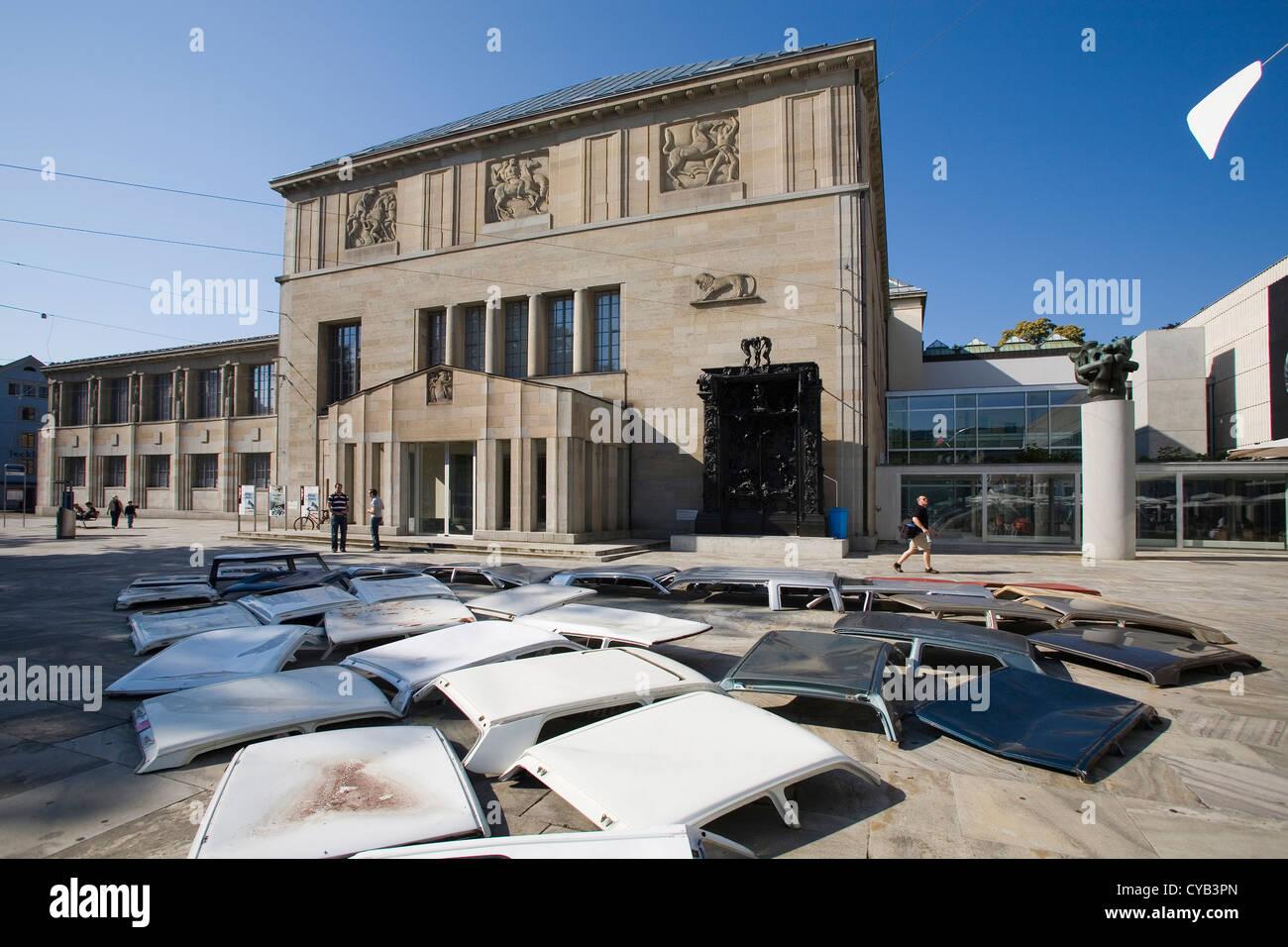L'Europa, la Svizzera, Zurigo, Kunsthaus, museo d'arte, Installazione da bob gramsma Immagini Stock